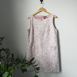 Victoria Beckham Paisley Brocade Pink &White Dress